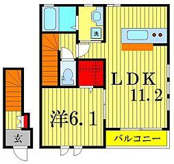 Verde M[2階]の間取り