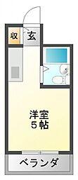 江坂ガーデンハイツ[5階]の間取り