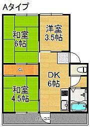 南港厚生年金住宅[5階]の間取り