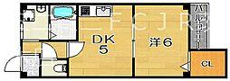 山崎第1マンション[4階]の間取り