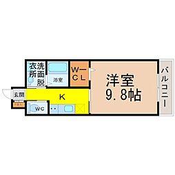 ベルグ大須[302号室]の間取り