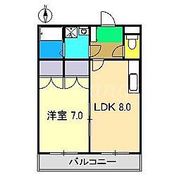 舞豊夢壱番館[2階]の間取り