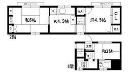 [一戸建] 兵庫県西宮市上大市1丁目 の賃貸【/】の間取り