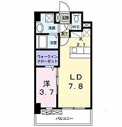 西鉄天神大牟田線 大橋駅 バス17分 上警固下車 徒歩2分の賃貸マンション 6階1LDKの間取り