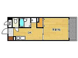 リファインドYM[4階]の間取り