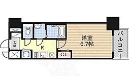 名鉄名古屋本線 名鉄名古屋駅 徒歩8分の賃貸マンション 5階1Kの間取り