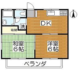 メゾン秋元B棟[1階]の間取り