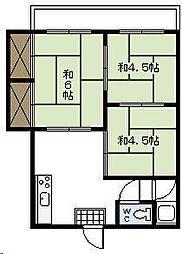 布施アパート1[205号室]の間取り