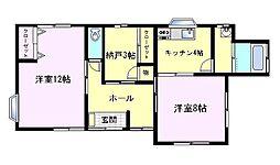 飯倉邸[1F号室]の間取り