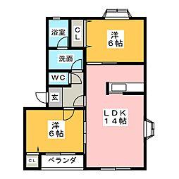 第2MHハウスG[2階]の間取り