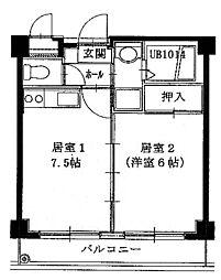 第7浦濱ビレッジ[2階]の間取り