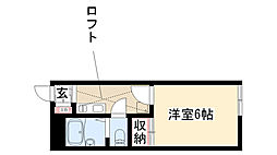 愛知県名古屋市昭和区五軒家町の賃貸アパートの間取り