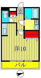 千葉県柏市あけぼの3丁目の賃貸アパートの間取り