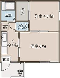 武ハイム[2階]の間取り