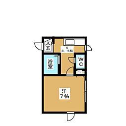ハイツサンA[1階]の間取り