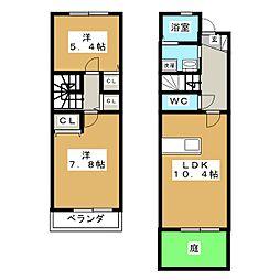 [テラスハウス] 愛知県刈谷市御幸町7丁目 の賃貸【/】の間取り