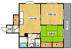 シルフィード東助松[201号室]の間取り