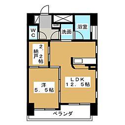 AQUA STAGE 1[7階]の間取り