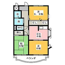 POLESTAR 3rd STAGE[2階]の間取り
