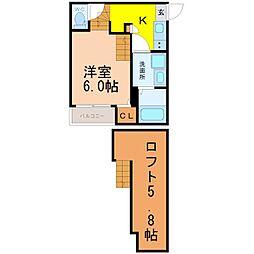 北区上飯田通デザイナーズ[2階]の間取り