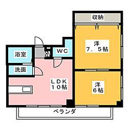 新豊土地ビル[6階]の間取り
