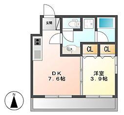diciottoATSUTA[2階]の間取り