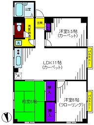 内田ビル[4階]の間取り