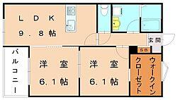 仮)福津中央アパート[3階]の間取り