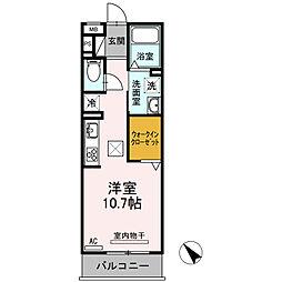 愛知県安城市昭和町の賃貸アパートの間取り