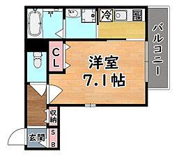 阪急神戸本線 王子公園駅 徒歩1分の賃貸マンション 3階1Kの間取り