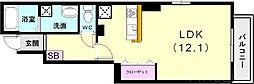 山陽電鉄本線 西舞子駅 徒歩13分の賃貸アパート 1階1Kの間取り