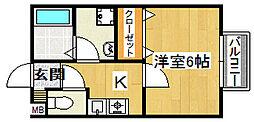 KSハイツ[1階]の間取り