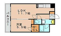 セゾンドール貝塚[2階]の間取り
