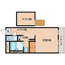 奈良県香芝市別所の賃貸マンションの間取り
