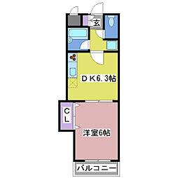 梅田ビル[4階]の間取り