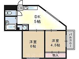 シャルム西九条[4階]の間取り
