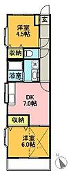 シティハイム141B[205号室]の間取り