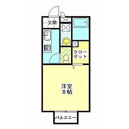 祖谷形の杜二番館[2階]の間取り