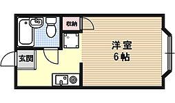 シャン琵琶湖[202号室号室]の間取り