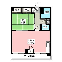 東福岡ビル[3階]の間取り