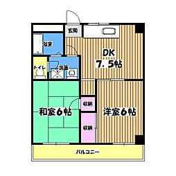 高倉ビル[2階]の間取り