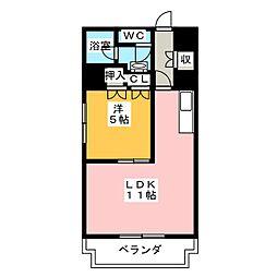 タウンコート人宿町[5階]の間取り