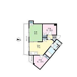 第二八千代ビル[4階]の間取り