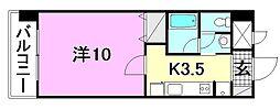 KWレジデンス東石井[207 号室号室]の間取り