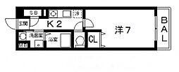 インノバーレ桜ヶ丘[2階]の間取り