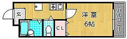 フラワーパレス牧野[2階]の間取り