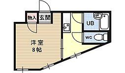 ジュネス東條[305号室号室]の間取り