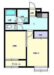 R.ASAHIGAOKA 2[204号室]の間取り