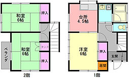 [一戸建] 神奈川県大和市上草柳3丁目 の賃貸【神奈川県 / 大和市】の間取り