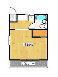 レピュート斉藤II[2号室]の間取り